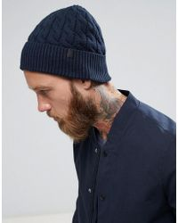 SELECTED - Beanie In Navy - Lyst