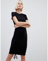 Minimum - Gathered Front Mini Dress - Lyst