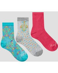 Ruby Rocks - 3 Pack Paisley Print Socks - Lyst