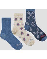 Ruby Rocks - 3 Pack Socks In Geo Floral Pattern - Lyst