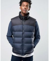 The North Face - Nupste 2 Down Gilet In Navy - Lyst