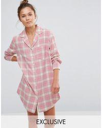 Chelsea Peers - Checked Nightshirt - Lyst