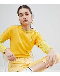PUMA - Exclusive To Asos T-shirt With Taping In Yellow - Lyst