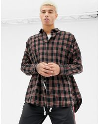 Criminal Damage - Oversized Check Shirt In Black - Lyst