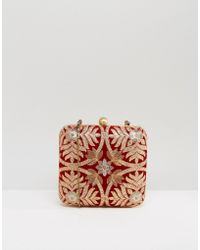 Park Lane - Embroidered Box Clutch Bag - Lyst
