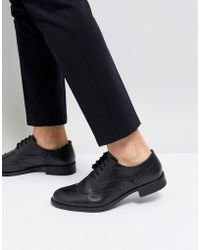 Frank Wright - Milled Brogue Boots Black Leather - Lyst