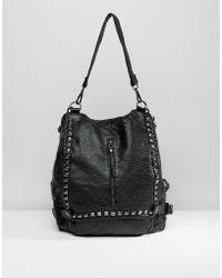 Liquorish - Studded Backpack - Lyst
