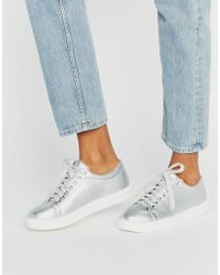 Daisy Street - Silver Trainers - Lyst
