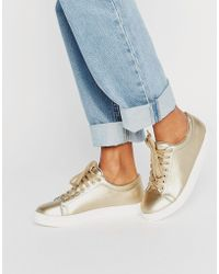 Daisy Street - Gold Trainers - Lyst