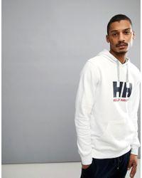 Helly Hansen - Logo Hoodie In White - Lyst