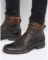 Bellfield | Hyder Leather Laceup Boots | Lyst