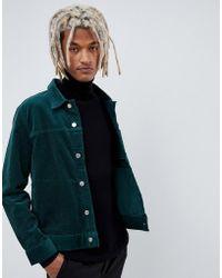 Weekday - Core Dark Green Cord Jacket - Lyst