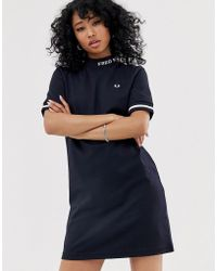 47cfd95c97fde Fred Perry Asos Maternity Smock Dress in Denim in Blue - Lyst