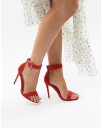 c0a83fa0ff5eea Missguided - Ankle Strap Barely There Heeled Sandal - Lyst