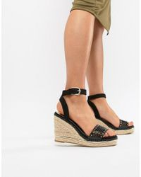 River Island - Wedges With Laser Cut Details - Lyst