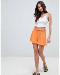 ASOS - Asos Culotte Shorts With Paperbag Waist - Lyst