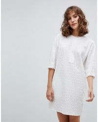 Vanessa Bruno Athé - Vanessa Bruno Shift Dress In Broderie Anglaise - Lyst