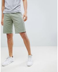 Barbour - Neuston Twill Short In Olive - Lyst