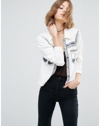 First & I - Western Embroidered Jacket - Lyst