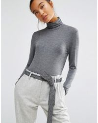First & I - Jersey Roll Neck - Lyst