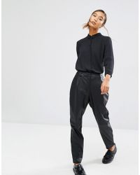 First & I - First And I Leather Look Pant - Lyst