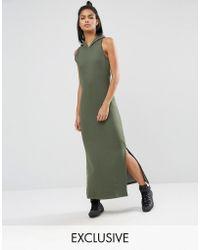 Nocozo - Khaki Maxi Dress With Hood - Lyst