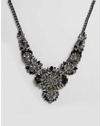 Little Mistress - Gunmetal Jewelled Statement Necklace - Lyst