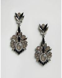 Little Mistress - Drop Jewelled Earrings - Lyst