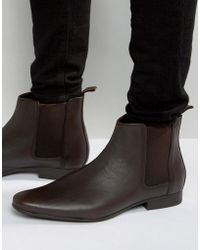 Frank Wright - Chelsea Boots In Brown Leather - Lyst