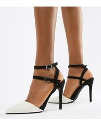 1094d5b2766 Lyst - ASOS Protector Stud Detail Caged Heels in Natural