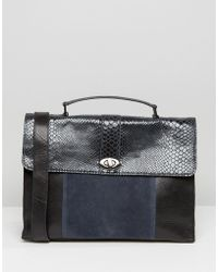 Urbancode - Faux Snake Mix Tote Bag - Lyst