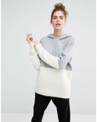 Sportmax Code - Aladino Knit And Jersey Mix Hoodie - Lyst