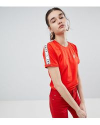 PUMA - Exclusive To Asos T-shirt With Taping In Red - Lyst