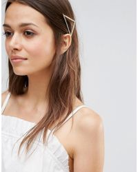 Pieces - Triangle Hair Clip - Lyst