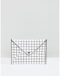 Pull&Bear - Envelope Purse In Check Print - Lyst
