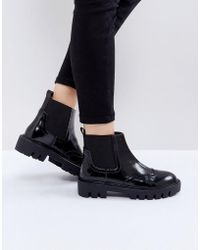 Sixtyseven - Cleat Sole Chelsea Flat Boots - Lyst