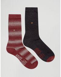 Levi's - Levi's Socks In 2 Pack Graphic Stripe Multi - Lyst