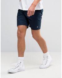 Original Penguin - P55 Chino Shorts Slim Stretch Cotton In Navy - Lyst