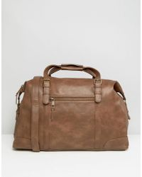 New Look - Holdall Bag In Brown - Lyst