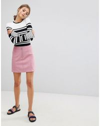Esprit - A Line Suedette Mini Skirt - Lyst