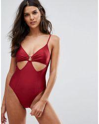 MINKPINK - Rosa Panelled Swimsuit - Lyst