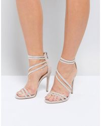 Miss Kg - Swirled Strappy Heeled Sandal - Lyst