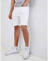Stradivarius - Denim Shorts In White - Lyst