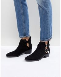 Bershka - Cut Out Buckle Western Boots - Lyst