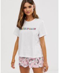 630259d71fa ASOS Holidays Dachshund Tee & Short Pajama Set - Lyst