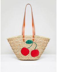 Vincent Pradier - Cherry Structured Beach Bag - Lyst