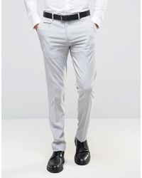 ASOS - Skinny Smart Pants In Pale Gray - Lyst