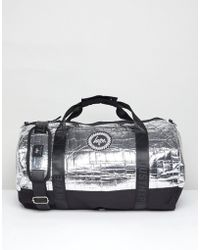 Hype - Holdall In Silver Foil - Lyst