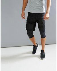Bershka | Sport Bermuda Shorts With Leggings In Black | Lyst