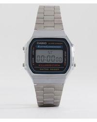 G-Shock - A168wa-1yes Digital Bracelet Watch - Lyst